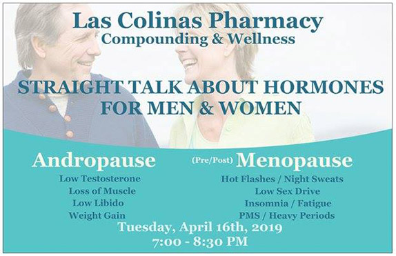 Straight Talk About Hormones For Men and Women Seminar